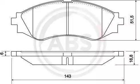 A.B.S. 37055 - Тормозные колодки, дисковые sparts.com.ua