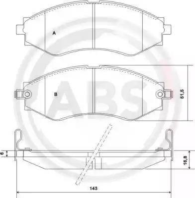 A.B.S. 37053 - Тормозные колодки, дисковые sparts.com.ua
