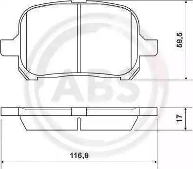 A.B.S. 37033 - Тормозные колодки, дисковые sparts.com.ua