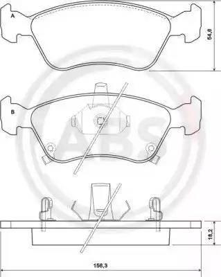 A.B.S. 37029 - Тормозные колодки, дисковые sparts.com.ua