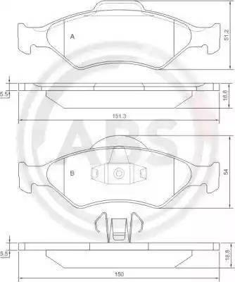 A.B.S. 37196 - Тормозные колодки, дисковые sparts.com.ua