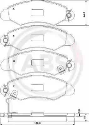 A.B.S. 37140 - Тормозные колодки, дисковые sparts.com.ua