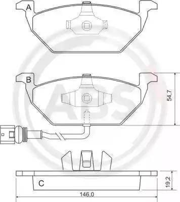 A.B.S. 37155 - Тормозные колодки, дисковые sparts.com.ua