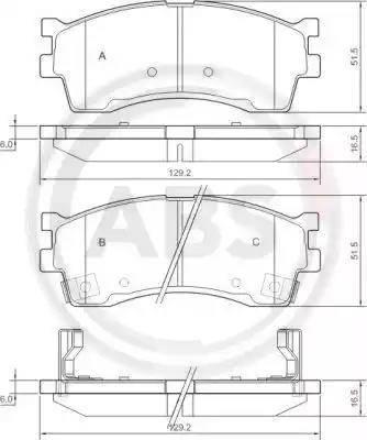 A.B.S. 37180 - Тормозные колодки, дисковые sparts.com.ua