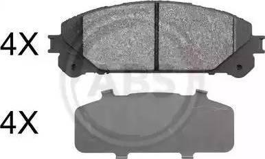 A.B.S. 37844 - Тормозные колодки, дисковые sparts.com.ua