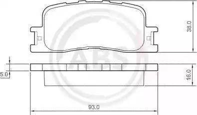 A.B.S. 37355 - Тормозные колодки, дисковые sparts.com.ua