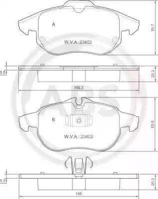 A.B.S. 37300 - Тормозные колодки, дисковые sparts.com.ua