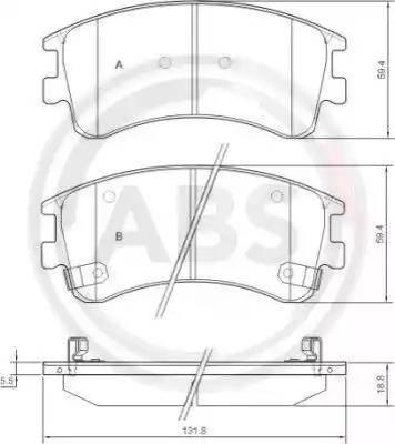 A.B.S. 37381 - Тормозные колодки, дисковые sparts.com.ua