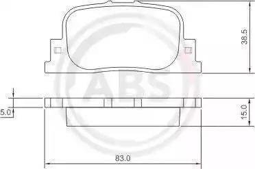 A.B.S. 37330 - Тормозные колодки, дисковые sparts.com.ua