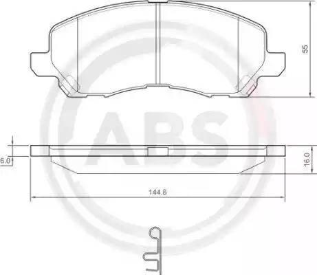 A.B.S. 37202 - Тормозные колодки, дисковые sparts.com.ua