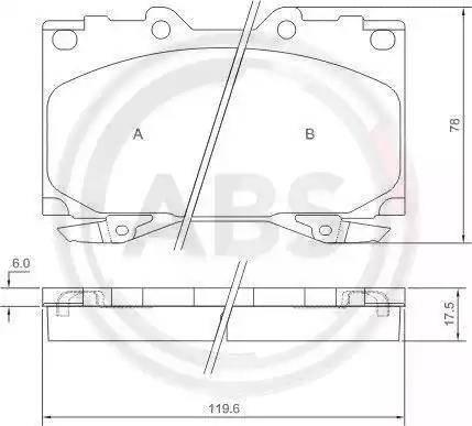 A.B.S. 37231 - Тормозные колодки, дисковые sparts.com.ua