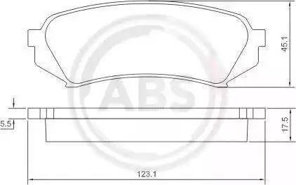 A.B.S. 37226 - Тормозные колодки, дисковые sparts.com.ua