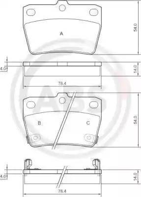 A.B.S. 37227 - Тормозные колодки, дисковые sparts.com.ua