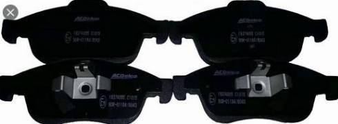 ACDelco 19374055 - Тормозные колодки, дисковые sparts.com.ua