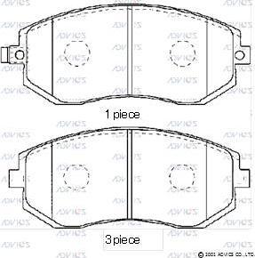 Advics SN915P - Тормозные колодки, дисковые sparts.com.ua