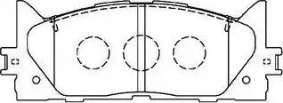Aisin A1N154 - Тормозные колодки, дисковые sparts.com.ua