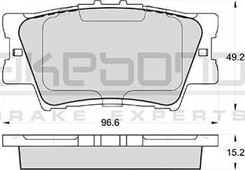 Akebono AN-733K - Тормозные колодки, дисковые sparts.com.ua