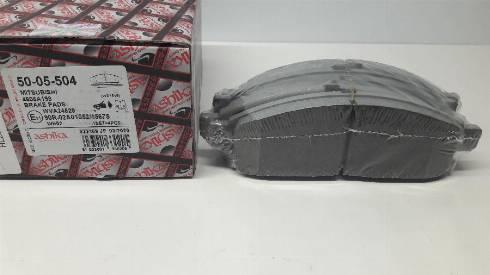 Ashika 5005504 - Тормозные колодки, дисковые sparts.com.ua