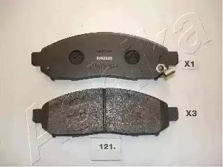 Ashika 50-01-121 - Тормозные колодки, дисковые sparts.com.ua