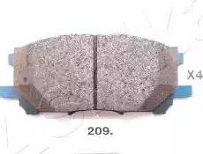Ashika 50-02-209 - Тормозные колодки, дисковые sparts.com.ua