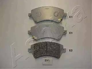 Ashika 50-02-211 - Тормозные колодки, дисковые sparts.com.ua