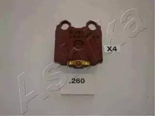 Ashika 51-02-260 - Тормозные колодки, дисковые sparts.com.ua