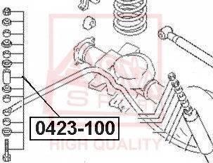 ASVA 0423-100 - Тяга / стойка, стабилизатор sparts.com.ua