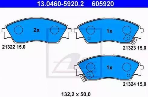 ATE 13.0460-5920.2 - Тормозные колодки, дисковые sparts.com.ua