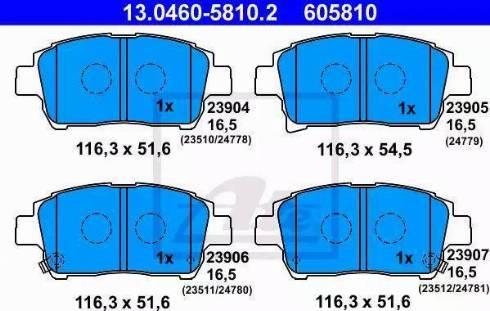 ATE 13.0460-5810.2 - Тормозные колодки, дисковые sparts.com.ua