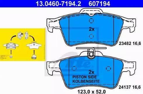 ATE 13.0460-7194.2 - Тормозные колодки, дисковые sparts.com.ua