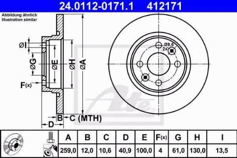 ATE 24.0112-0171.1 - Тормозной диск sparts.com.ua