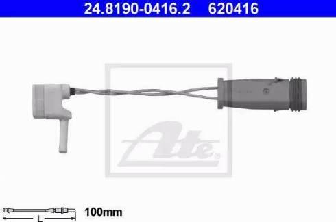 ATE 24.8190-0416.2 - Сигнализатор, износ тормозных колодок sparts.com.ua