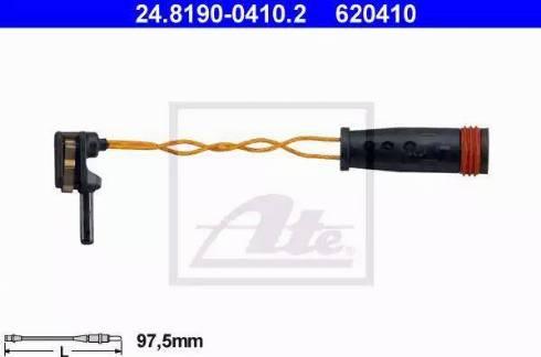 ATE 24819004102 - Сигнализатор, износ тормозных колодок sparts.com.ua