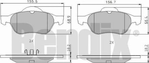 BENDIX 510376 - Тормозные колодки, дисковые sparts.com.ua