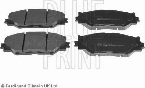 Blue Print ADT342163 - Тормозные колодки, дисковые sparts.com.ua