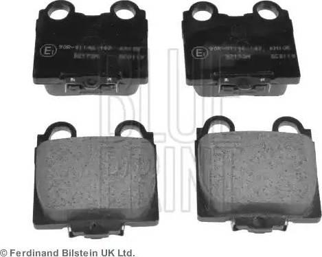 Blue Print ADT342108 - Тормозные колодки, дисковые sparts.com.ua