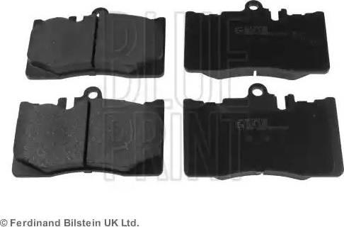 Blue Print ADT342126 - Тормозные колодки, дисковые sparts.com.ua
