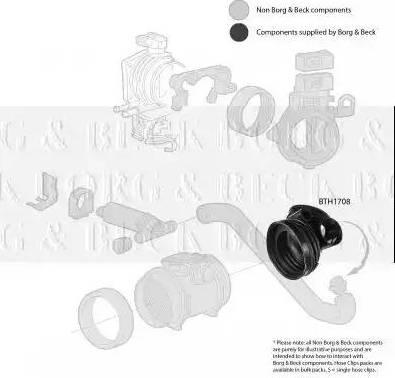Borg & Beck BTH1708 - Рукав воздухозаборника, воздушный фильтр sparts.com.ua