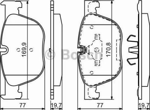 BOSCH 0 986 494 191 - Тормозные колодки, дисковые sparts.com.ua