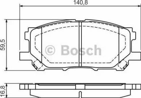 BOSCH 0 986 494 218 - Тормозные колодки, дисковые sparts.com.ua
