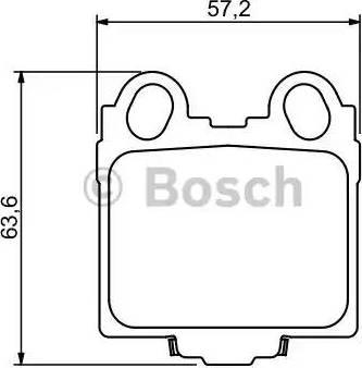 BOSCH 0 986 494 231 - Тормозные колодки, дисковые sparts.com.ua