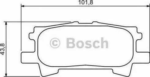 BOSCH 0 986 494 224 - Тормозные колодки, дисковые sparts.com.ua
