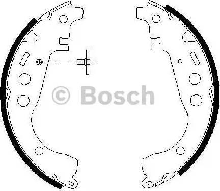 BOSCH 0986487589 - Комплект тормозных башмаков, барабанные sparts.com.ua