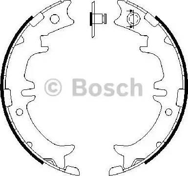 BOSCH 0 986 487 615 - Комплект тормозов, ручник, парковка sparts.com.ua