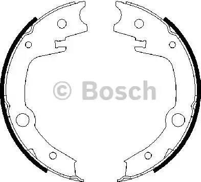 BOSCH 0986487679 - Комплект тормозов, ручник, парковка sparts.com.ua
