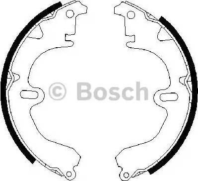 BOSCH 0986487203 - Комплект тормозных башмаков, барабанные sparts.com.ua