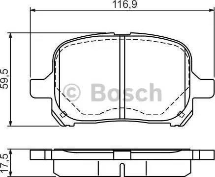 BOSCH 0 986 424 639 - Тормозные колодки, дисковые sparts.com.ua