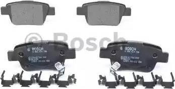 BOSCH 0 986 424 798 - Тормозные колодки, дисковые sparts.com.ua