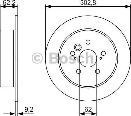 BOSCH 0 986 479 978 - Тормозной диск sparts.com.ua
