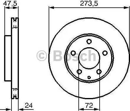BOSCH 0 986 479 034 - Тормозной диск sparts.com.ua